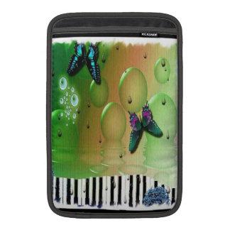 Butterflies Piano Keys Sleeve For MacBook Air