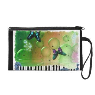 Butterflies Piano Keys Wristlet