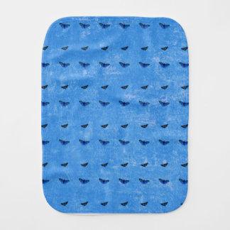 Butterflies print burp cloth