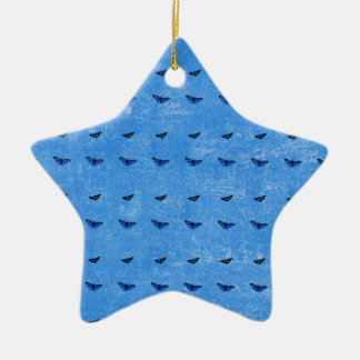 Butterflies print ceramic ornament