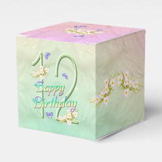 Butterflies Rainbow Flower 12th Birthday Party Wedding Favour Box