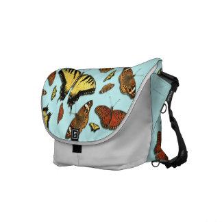 Butterflies Rickshaw Commuter Bag Courier Bag