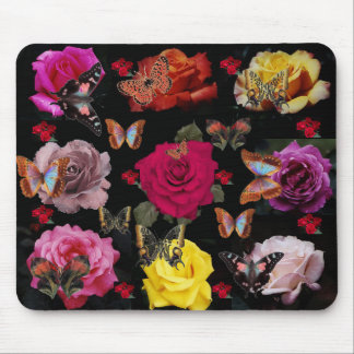 Butterflies & Roses! Mouse pad
