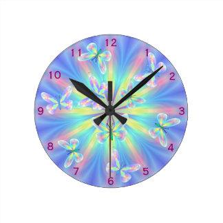 Butterflies round the clock! wallclocks