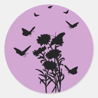 Butterflies Silhouette Stickers