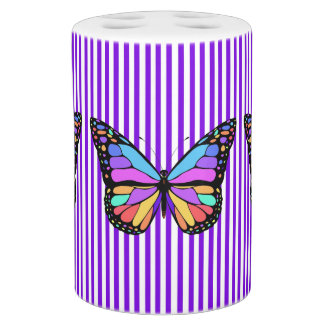 Butterflies Soap Dispenser And Toothbrush Holder