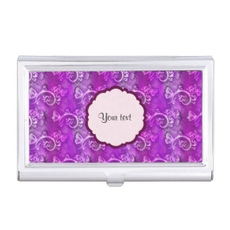 Butterflies & Swirls Business Card Holder