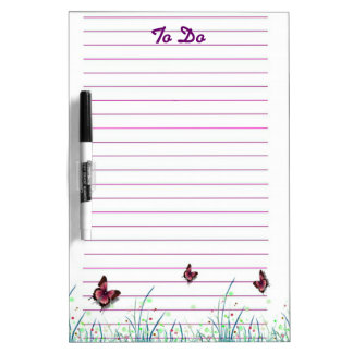 Butterflies To Do List Dry Erase Board