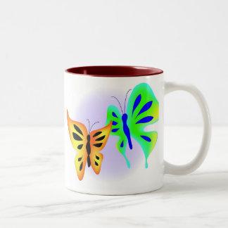 Butterflies Two-Tone Mug