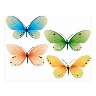 Butterflies vector design postcard