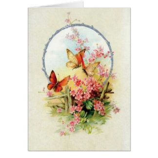 Butterflies Vintage All Occasions Greeting Card