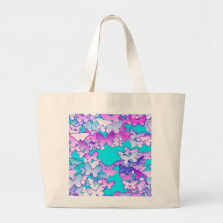 Butterflies, violet and turquoise tote bags