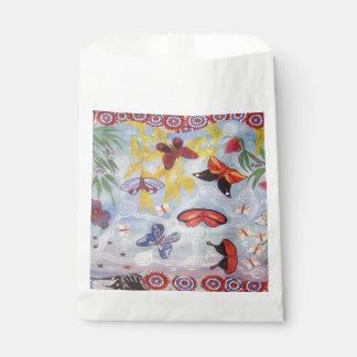 Butterflies White Favor Bag Favour Bags