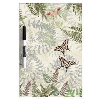 Butterflies Wildlife Ferns Dry Erase Board