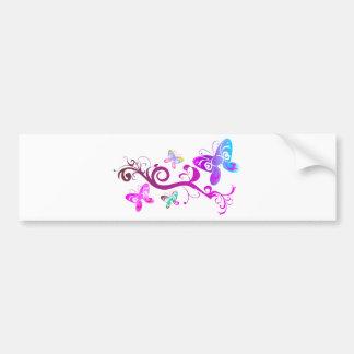 butterflies wings spring pink purple wing pattern bumper sticker