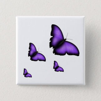 Butterfly 15 Cm Square Badge