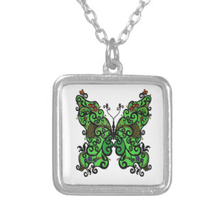 Butterfly 1 silver plated necklace