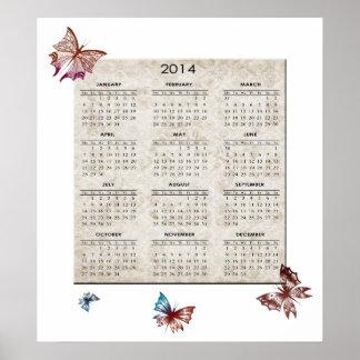 Butterfly 2014 Calendar Poster