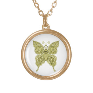Butterfly 4 gold plated necklace