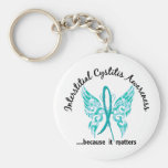 Butterfly 6.1 Interstitial Cystitis Basic Round Button Key Ring