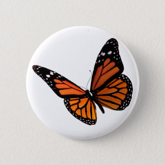 Butterfly 6 Cm Round Badge