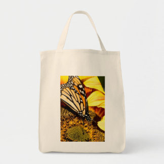 butterfly abstract canvas bag