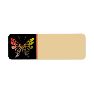 Butterfly Address Label