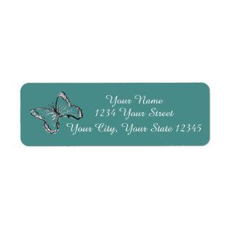 Butterfly Address Label