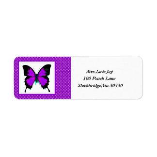 Butterfly Address Lables Return Address Label