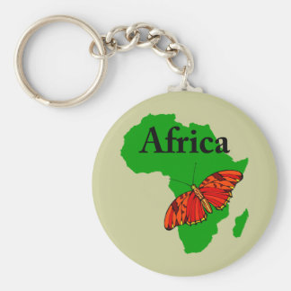 Butterfly Africa Basic Round Button Key Ring