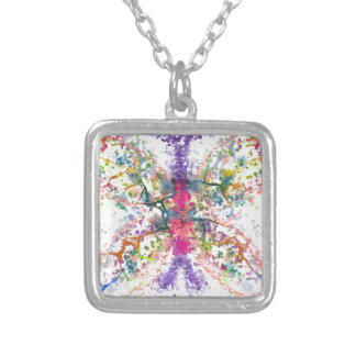 Butterfly Anatomy Silver Plated Necklace