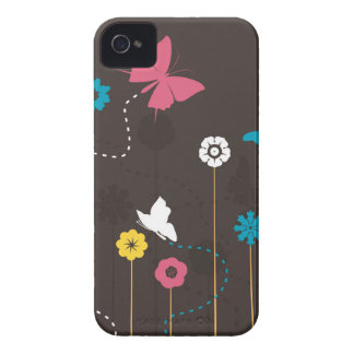 Butterfly and a flower3 iPhone 4 case
