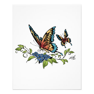 Butterfly and Butterflies full color by Al Rio 11.5 Cm X 14 Cm Flyer