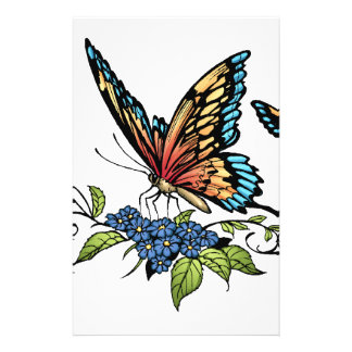 Butterfly and Butterflies full color by Al Rio 14 Cm X 21.5 Cm Flyer