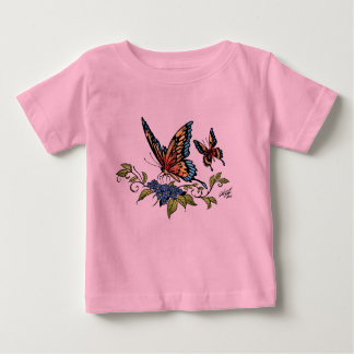 Butterfly and Butterflies full color by Al Rio Baby T-Shirt