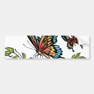 Butterfly and Butterflies full color by Al Rio Bumper Sticker