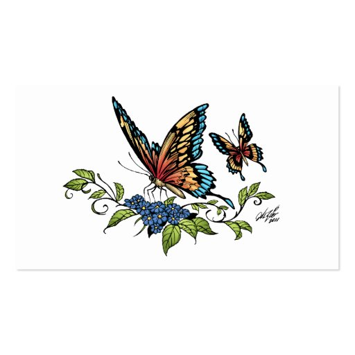 Butterfly and Butterflies full color by Al Rio Business Card Template
