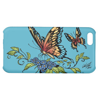 Butterfly and Butterflies full color by Al Rio Cover For iPhone 5C