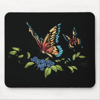 Butterfly and Butterflies full color by Al Rio Mouse Pad