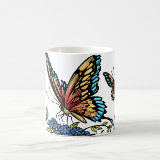Butterfly and Butterflies full color by Al Rio Mug