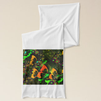 Butterfly and Floral Jersey Scarf