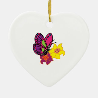 Butterfly And Flowers Ornaments