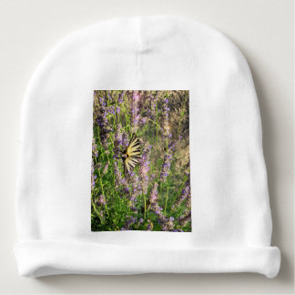 Butterfly and Lavender Baby Beanie