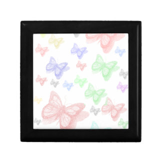 Butterfly and shadow small square gift box