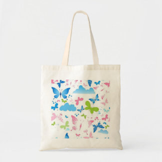 Butterfly and Skies Budget Tote Bag