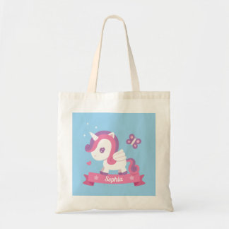 Butterfly and Unicorn with Wings Girls Tote Bag
