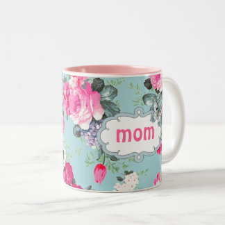 Butterfly and Vintage Roses Mother's Day Gift Mugs