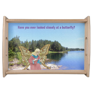 Butterfly Angel Serving Tray
