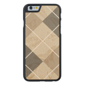 Butterfly Argyle Carved® Maple iPhone 6 Case