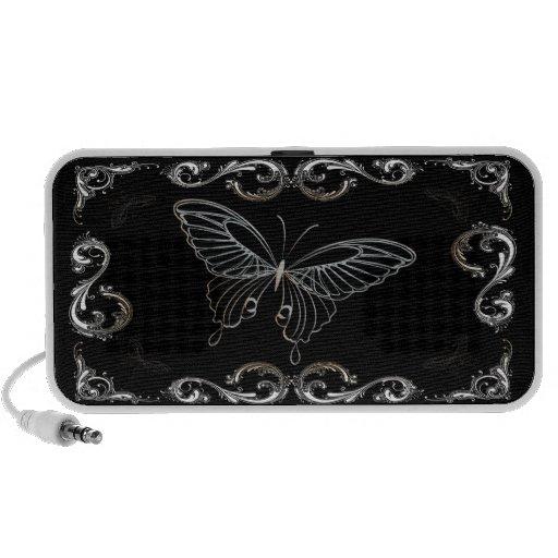 Butterfly Art 15B Doodle Notebook Speakers